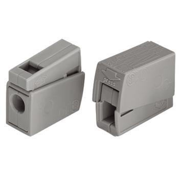WAGO 德国224-101型灰色万能电线连接器 100只/盒