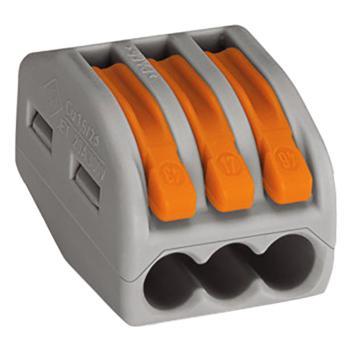 WAGO 德国222-413型灰色万能电线连接器 3孔 50只/盒