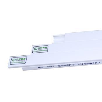 中财(ZHONGCAI PIPES)  PVC-U阻燃绝缘电线槽100*50 2米/根