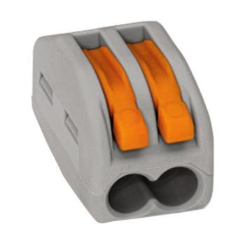 WAGO 德国222-412型灰色万能电线连接器 2孔 50只/盒