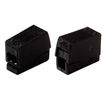 WAGO 德国224-114型黑色万能电线连接器 100只/盒