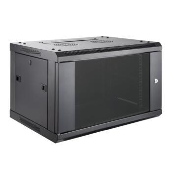 奥盛(Aosens)新款QA系列挂墙机柜 QA6412 12U 前玻后板 组装式框架 黑色