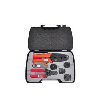 三堡(SANBAO)工具套装 BNC同轴端子压接钳 监控压线钳 视频压接工具套装 HT-330K