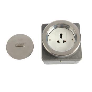 华工电气 HGD-100Ybr不锈钢螺旋式地面插座一位三插多功能