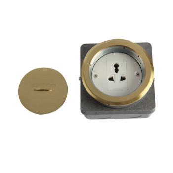 华工电气 HGD-100Y铜合金螺旋式地面插座一位三插多功能