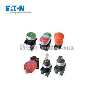 伊顿电气 带灯平齐弹簧复位按钮头;M22-DL-G