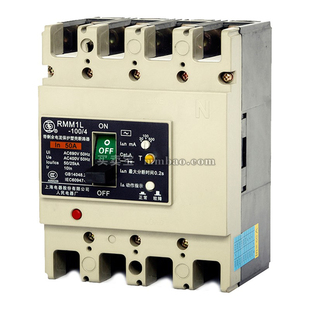 上海人民 塑壳漏电保护;RMM1L-225/4200B 225A 延时 板前