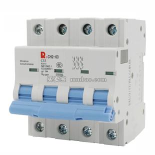 常熟开关 微型断路器;CH2-63D 40A/4P MX+OF2 DC24V