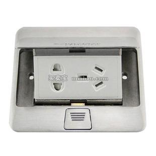 施耐德 E226 面板开关;E226TRJ5_BAS 弹出阻尼式电话+超五类电脑地插(铜质光面) 无底盒