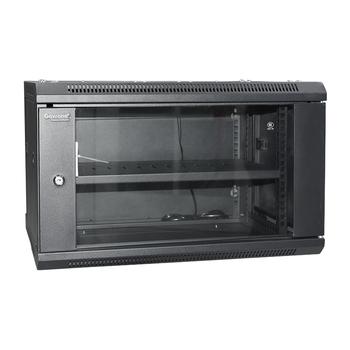 Gowone 购旺 19英寸网络机柜 壁挂落地监控弱电交换机柜机箱墙柜 6U增固加厚有风扇 G6406 配实用型PDU/W108