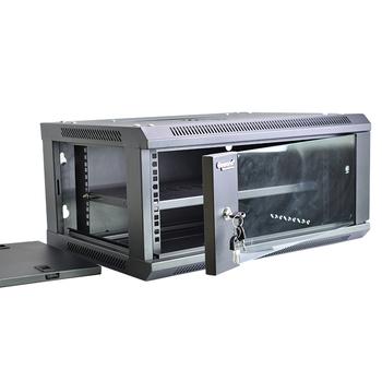 Gowone 购旺 19英寸网络机柜 壁挂落地监控弱电交换机柜机箱墙柜 4U增固加厚 G6404 配实用型PDU/W108